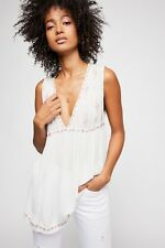 Free People Anthropologie NWT Ivory Diamond Shape Tunic Top Shirt XS $108