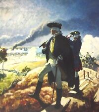 Vintage Art N C Wyeth Washington at Yorktown 1940 Patriot Young America US PA