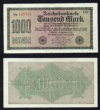 1000 mark Reichsbanknote Germany 1922 BB-/VF-  °