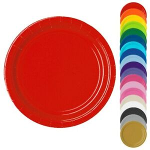 Einfarbige Pappteller 23 cm 8er Pack