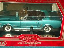 MIRA SOLIDO 1964 1/2 FORD MUSTANG CONVERTIBLE TURQUOISE/BLACK 1/18