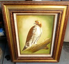 "Oil on Canvas  HAWK signed ""Franklin"" Beautiful!"