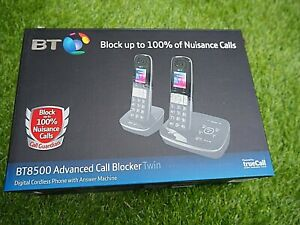 BT8500 Advanced Call Blocker cordless phones, answer phone, call guardian NEW