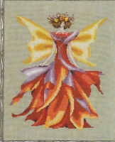 MD Mirabilia Nora Corbett design cross stitch pattern FAIRIE AUTUMN GLOW NC 203