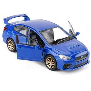 1:36 Subaru Impreza WRX STI Racing Car Model Diecast Toy Vehicle Pull Back Blue