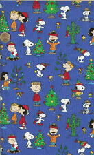 """OOP! SNOOPY CHRISTMAS ON BLUE - RELEASED 2001 - FQ - 18""""X22"""""""