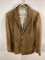 Mens Suede Leather Jacket - Californian Suede   Size: 42 (XL)   Brown Outerwear