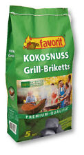 Favorit Kokosnuss Grill Briketts Premium Qualität Grillkohle ökologisch 5 KG