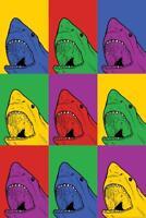 Shark Pop Art inch Poster 24x36 inch
