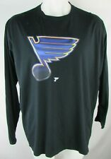 St. Louis Blues NHL Men's Large Logo Long Sleeve T-Shirt in Black