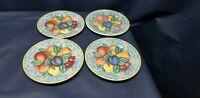 Vintage Victoria & Beale FORBIDDEN FRUIT Set/4 Dessert/Salad Plates Colorful!