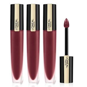 3x LOreal Rouge Signature Matte Colour Ink Lipstick 142 TreasuRED Makeup Warehou
