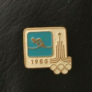1980 Water Polo XXII Olympic Games Moscow Soviet Pin Badge Sport FINA USSR