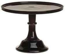 """Cake Stand Plate Pastry Tray Bakers - Plain & Simple Black Raspberry Glass - 12"""""""