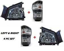 2006 2007 GMC TRUCK W-Series W3500 W4500 W5500 Head Lights wtih Signals - SET