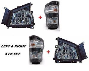 2006 2007 GMC TRUCK W-Series W3500 W4500 W5500 Head Lights wtih Signals - SET