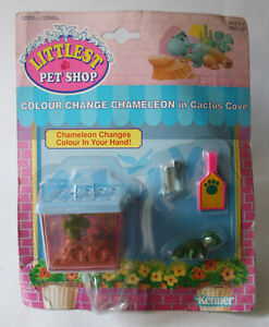 VINTAGE 1992 LITTLEST PETSHOP COLOUR CHANGE CHAMELEON CACTUS COVE KENNER NEW !