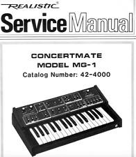 Moog Concertmate mg-1 Realistic Schematic Diagram Manual schaltplan techniques
