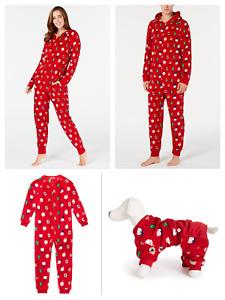 Family Matching Christmas Pajamas Set Baby Kids Dog Sleepwear- Santa and Friends
