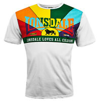 Lonsdale Herren T-Shirt Loves All Colours Oberteil No Racism S M L XL XXL 3XL