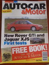 Autocar 4/9/91 Rover 220 GTi, Jaguar XJS