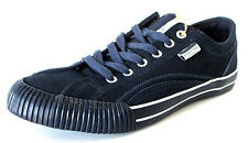 BASKETS BASSES CASUAL 40 daim bleu marine à lacets HUNGARIA Homme NEUF