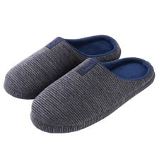 Men's Women's Cozy Fleece House Slippers Slip-on Shoes Winter Warm Flip Flops