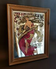 Miroir publicitaire Laroche Parfum art nouveau style Mucha vintage