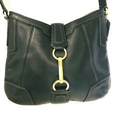 Coach Hampton Bag Black Leather Purse Hobo Shoulder Tote Handbag E07930-11043