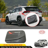 Carbon Fiber ABS Car Fuel Oil Tank Gas Cap Cover Trim For Toyota RAV4 2019 2020