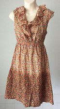 Red Herring @ Debenhams ~all cotton summer sleeveless knee length dress ~12