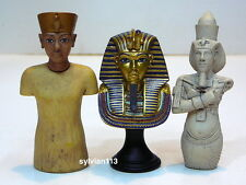 UHA Collect Club Ancient Egyptian Miniature Figure Lot of 3 Pharoah Tutankhamun