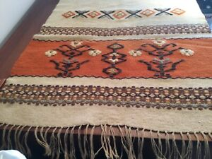 Vintage Southwest Mexican Tribal Woven Tapestry