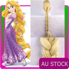 """42"""" Rapunzel Princess Tangled Disney Book Week Ladies Long Blonde Braid Hair Wig"""