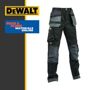 Dewalt Harrison Slimmer Fit Pro Stretch Trousers Black/Grey -4 Way Worker Plus
