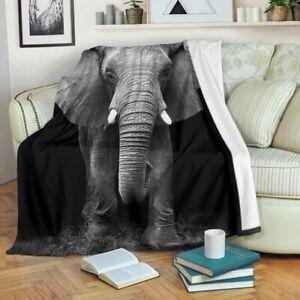 elephant Sherpa blanket - Fleece Blanket, Sherpa Blanket, Elephant Blanket