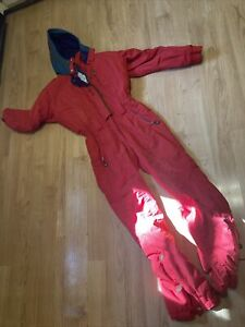 Vintage OBERMEYER Anna Embroidered Red Ski Suit Ladies Size 10 Tall