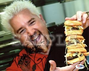 Guy Fieri signed 8x10 Autograph Photo RP - Free ShipN! Food Network Chef