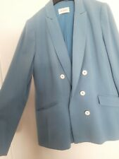 lovely blue ladies jacket m&s size 14 blazer occasion formal