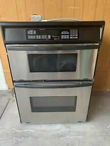 "Whirlpool Gold Series 30"" Wall Oven /Microwave Unit Stainless Steel Pre-owned"