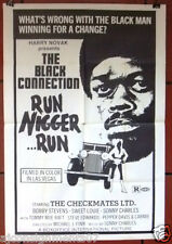 "The Black Connection, RUN NIGGER RUN {Bobby Stevens} ORG 41x27"" Movie Poster 70s"