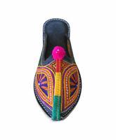 Indian Handmade Leather Women Shoes Clogs Casual Flip-Flops Flat UK 6.5 EU 40