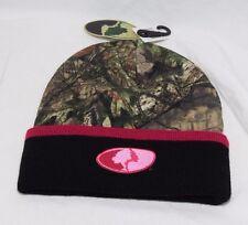 Outdoor Cap Mossy Oak Logo Camo, Black Pink Rasberry Knit Beanie Hat NEW