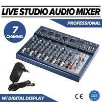7-Kanal Digital Mic Line Audio Mixer Mischpult Effect 48V Phantom Speisung A3V7
