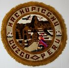 """Machupicchu Cuzco Peru Rug Folk Art 27.5"""" Diameters + Fringe 1.25"""" Each End"""