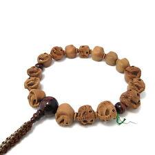 Elephant wood carving with Red Tiger Eye Japanese Juzu Buddhist Prayer beads