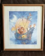 Scott Gustafson Owl and the Pussycat Print Matted Framed Numbered 253/950 Ship