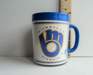 "1980's Milwaukee BREWERS 4"" Tall Thermal MUG Cup Heavy Glass - FLASH SALE"
