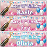 2 Personalised Birthday banner Balloon Adult Champaign Party 18th 21st 30th 40th