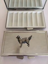 GOLDEN RETRIVER DR52 On Mirrored 7 Day Pill box Compact